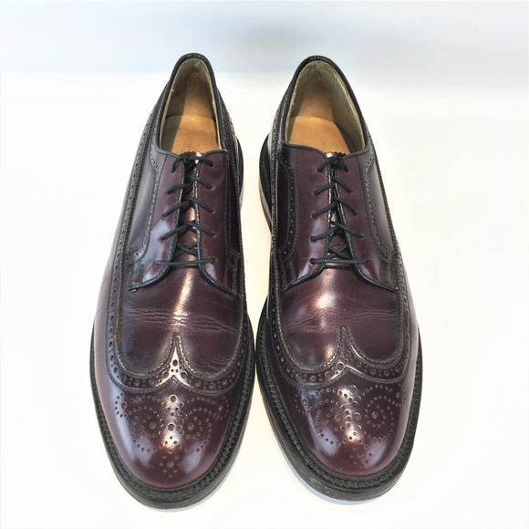 Austin Reed Shoes Austin Reed Usa 95m Burgundy Wingtip Derby Poshmark